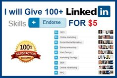 GET 100 LinkedIn skills endorsements for $5 on #Fiverr