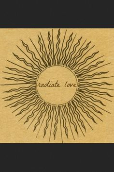 Sun tattoo with radiate love