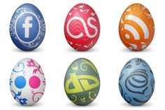 Social Easter Egg Icons - Artwork by DesignContest Social Network Icons, Social Icons, Desktop Icons, Website Icons, Cool Artwork, Easter Eggs, Crafts For Kids, Stationery, Crafty