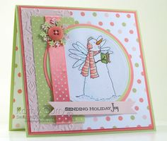 Caroling Snowman by Kathleen Curry - Cards and Paper Crafts at Splitcoaststampers