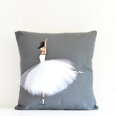 Nursery Decor For Girl - Ballerina Pillow Cover Nursery Room, Nursery Decor, Wall Decor, Room Decor, Bedroom, Ballerina Nursery, Fashion Wall Art, Little Girl Rooms, Pillow Covers