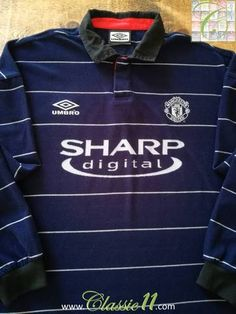 Official Umbro Manchester United away long sleeve football shirt from the 1999/00 season.