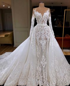custom dresses A-line Princess Heart Neck Long Sleeve Lace Long Bridal Dresses sold by custom Bridal gowns. Shop more products from custom Bridal gowns on Storenvy, the home of independent small businesses all over the world. Dream Wedding Dresses, Bridal Dresses, Gown Wedding, 2 In 1 Wedding Dress, Weeding Dresses, Prom Dresses, African Wedding Dress, Wedding Dresses With Bling, Long Sleeve Dresses