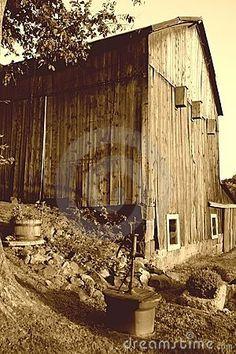 Sepia Barn