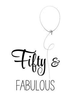Verjaardagskaart Fifty zww - SG, verkrijgbaar bij #kaartje2go voor €0,99