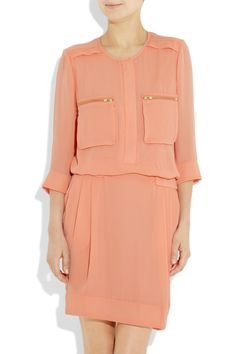 the perfect shade of peach: by malene birger crepe dress
