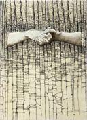 art by Portland, Oregon artist Andrea Benson. Louise Bourgeois, Textile Artists, New Artists, Sweet Station, Encaustic Painting, Abstract Paintings, Artist Profile, Gcse Art, Art For Art Sake