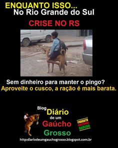 Diário de um Gaúcho Grosso: NOVA MONTARIA DE GAUCHO NA CRISE