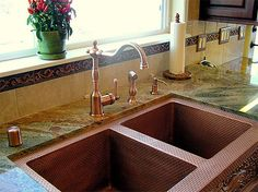 Nomadic Decorator | What Faucet Goes with a Copper Sink | http://nomadicdecorator.com