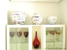 Magazine vases // Jarrones de papel