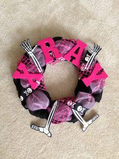 Halloween or X-Ray Burlap Wreath