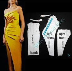 Evening Dress Patterns, Dress Sewing Patterns, Clothing Patterns, Costura Fashion, Sewing Blouses, Handmade Dresses, Fashion Sewing, Diy Clothes, Blouse Designs
