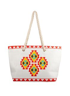 Shop Prima Donna - Risa Diamond Squad Beach Bag Pink/White