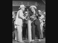 Bill Monroe with Lester Flatt Country Music Association's Fan Fair Festival at the Ryman Auditorium in Nashville, TN, June [Courtesy American Roots Music] Classic Country Songs, Old Country Music, Country Music Artists, Country Music Stars, Country Singers, Sleepy Man Banjo Boys, Classic Singers, Bill Monroe, Music Documentaries