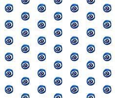 cestlaviv_evil eye fabric by cest_la_viv on Spoonflower - custom fabric