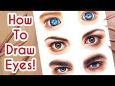 (135) DRAWING EYES PART 1! Coloured Pencil Drawing Tutorial Episode 6 - YouTube