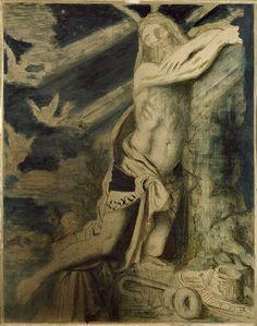 Gustave Moreau. Mort de Moïse