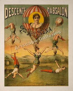 vintage circus poster. getting addicted