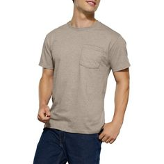 XL $5 for 4pk, Fruit of the Loom Men's Assorted Color Pocket T-Shirt, 4-Pack