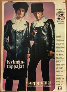 Seppälän mainos From Suosikki 10/1970. Bad Fashion, World Of Fashion, Retro Fashion, Vintage Fashion, Fashion History, Strange Adventure, Old Commercials, Vintage Ads, Vintage Style