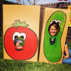 Veggie tales birthday photo cut outs