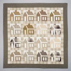 """School House"" quilt by Rebecca Rohrkaste | Flickr"