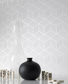 Wallpaper Wednesday: Subtle Geometric Prints for Calm walls | Love Chic Living #furnishinghomes #homedecor #besthomeaccents