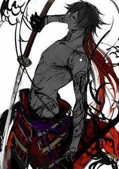 Anime Guy Black Hair Sword Anime Cool Anime Guys Touken Ranbu Anime Mc With Katana Cute Anim. Anime Sexy, M Anime, Hot Anime Boy, Anime Boys, Bakugou Manga, Manga Boy, Touken Ranbu, Katana, Character Sketches