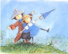 Henry and amy-right way round and upside down Children's Book Illustration, S Pic, Childrens Books, Illustrators, Painting, King, Drawings, Cute, Prints