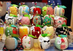 A little gathering of plump apple pincushions