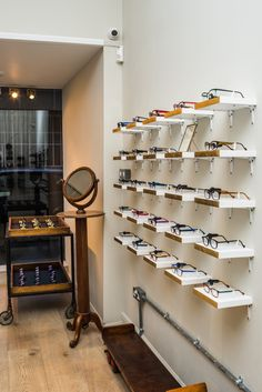 Our Anne et Valentin spectacle display - Taylor-West & Sloan Optometrists