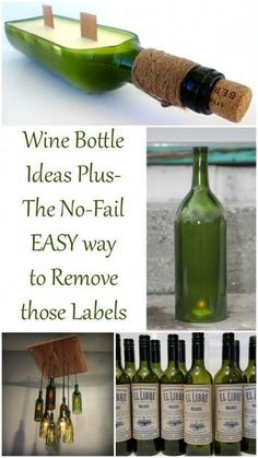 Are you a lover of all things wine? Do you have some extra wine bottles hanging around and looking for some great ideas? Perhaps you do love wine, but aren't so crafty. My repurposed wine bottles collection. Empty Wine Bottles, Wine Bottle Corks, Glass Bottle Crafts, Diy Bottle, Recycled Bottles, Liquor Bottles, Bottles And Jars, Recycled Glass, Glass Bottles