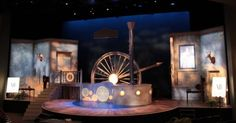 Around the World in - Around the World in 80 Days. Scenic design by Mischa Kachman. --- #Theaterkompass #Theater #Theatre #Schauspiel #Tanztheater #Ballett #Oper #Musiktheater #Bühnenbau #Bühnenbild #Scénographie #Bühne #Stage #Set