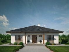 pohled domu Lucie 26 Village House Design, House Front Design, Village Houses, Home Building Design, Building A House, House Architecture Styles, House Construction Plan, Architectural House Plans, House Map
