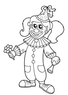 Carnival is a synonym for joy, fantasy and a lot of colorful things for children. Coloring Sheets For Kids, Coloring Pages, Carnival Crafts, Le Clown, School Carnival, Business For Kids, Paper Flowers, Party Time, Art For Kids