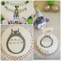 Totoro birthday party Baby First Birthday, 16th Birthday, First Birthday Parties, First Birthdays, Totoro Nursery, Anime Cake, Baby Shower Gender Reveal, Party Time, Studio Ghibli