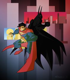 #Superman #And #Batman #Fan #Art. (Knight and Day) By:Astalakio. (THE * 5 * STÅR * ÅWARD * OF: * AW YEAH, IT'S MAJOR ÅWESOMENESS!!!™)[THANK U 4 PINNING!!<·><]<©>ÅÅÅ+(OB4E)
