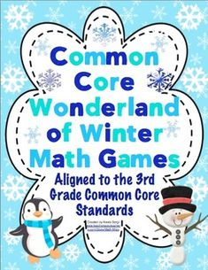 Common Core Wonderland of Winter Math Games Grade 3 - Transform your classroom into a Common Core math winter wonderland. These super fun math games will keep your students engaged this winter! They are great for centers and small group! $