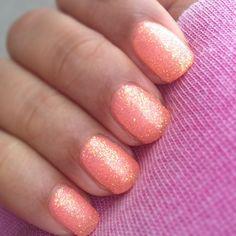 Coral + gold nails.  GABIFRESH: Spring, via instagram