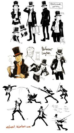 Professor Layton wratstyled by *wredwrat on deviantART    DAAAANG.  That's one awesome style!!  :D