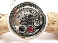 Kette Floating Charms  Halskette my Family von Beads-for-Beginners auf DaWanda.com