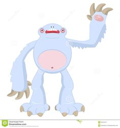 funny-cartoon-snow-monster-file-eps-format-30137317.jpg (1300×1390)