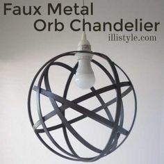 Faux-Metal-orb-chandelier-illistyle.com