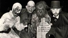 LA Times - Knott's Halloween Haunted attraction monster cast (1973)