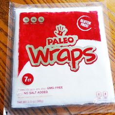 Paleo Wraps™ 1 Pack 7 Wraps (Gluten Free, Raw, Vegan, Low Carb)