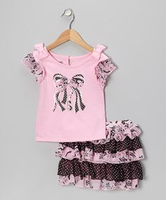Another great find on #zulily! Pink Bow Top