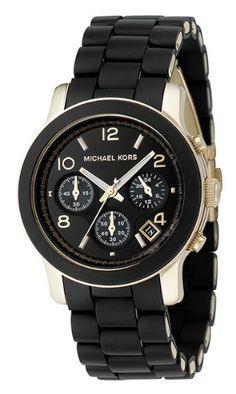Michael Kors Quartz, Black Dial with Black Goldtone Bracelet - Womens Watch MK5191 - via http://bit.ly/epinner