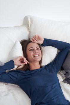 Sleep better with Dagsmejan's sleep enhancing pajamas Most Comfortable Pajamas, Cotton Pjs, Best Pajamas, Fibre And Fabric, Swedish Design, Sleep Shirt, Stay Warm, Pyjamas, Soft Fabrics