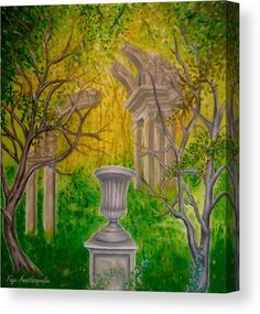 Garden Of Antiquity Wood Print by Faye Anastasopoulou. All wood prints are professionally printed, packaged, and shipped within 3 - 4 business days and delivered ready-to-hang on your wall. Canvas Art, Canvas Prints, Art Prints, Thing 1, Art For Sale Online, Shade Structure, Glass Garden, Shade Garden, Wood Print
