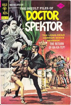 The Occult Files of Doctor Spektor 10 Comics Mummy Scary Horror Tales of Fear Terror Creepy Nightmare Dr Spector Gold Key 1974 VF by LifeofComics #comicbooks #halloween
